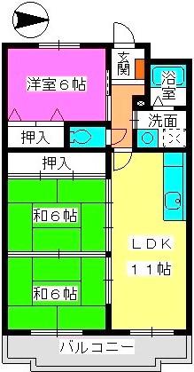 リバーサイド山本 / 402号室間取り