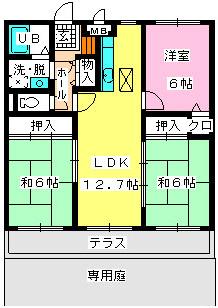 ロイヤルハイツ博多南 / 103号室間取り