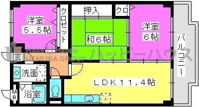 サザンコート・ブティア / 704号室間取り