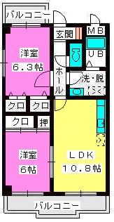メゾンドソレイユ / 403号室間取り