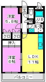 レジデンス渡邊Ⅲ / 403号室間取り