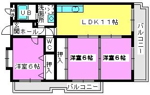 エントピア那珂川2 / 201号室間取り