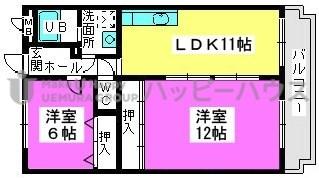 エントピア那珂川2 / 203号室間取り