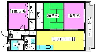 エントピア那珂川2 / 402号室間取り