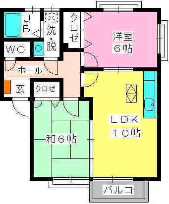 カウベルハウス / 203号室間取り
