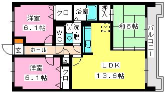 ※リバーサイドⅡ / 502号室間取り
