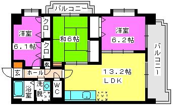 リバーサイドⅡ / 506号室間取り