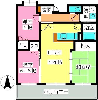 レジデンス渡邊Ⅴ / 305号室間取り