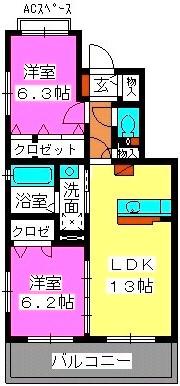 ル・プランタン / 302号室間取り