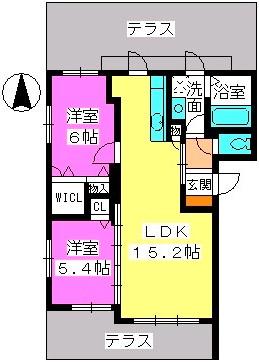 ルーチェ博多南(A・B棟) / A101号室間取り