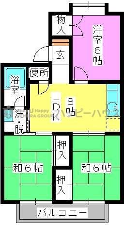 サンコーポ泉 / 102号室間取り