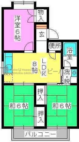 サンコーポ泉 / 201号室間取り