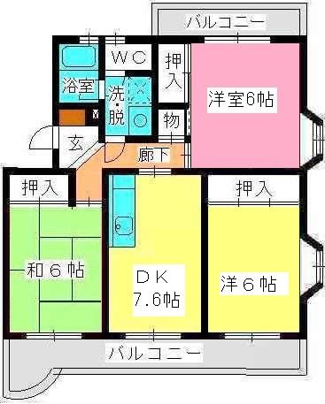 ロイヤルハイツ泉 / 207号室間取り