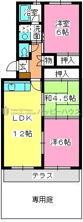 レークサイドパーク / 102号室間取り