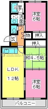レークサイドパーク / 302号室間取り