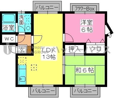 ティアラ長野 / 105号室間取り