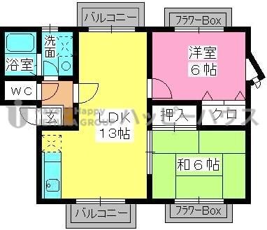 ティアラ長野 / 205号室間取り