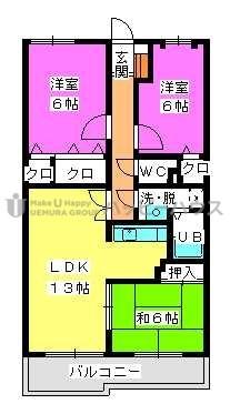 フレグランス春日 / 305号室間取り