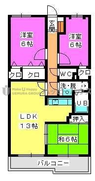 フレグランス春日 / 402号室間取り