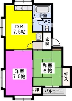 メモリーハイツⅡ / 203号室間取り
