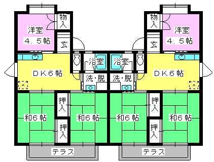 池田コーポ / A-202号室間取り