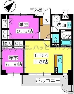アムール古水 / 301号室間取り