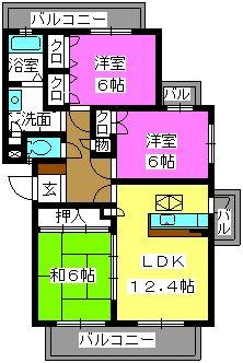 ルミエール合川 / 102号室間取り