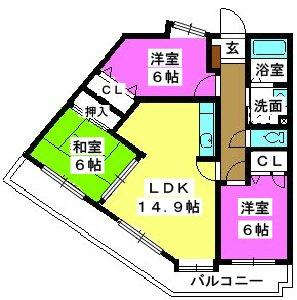 メゾンドール荒木 / 203号室間取り