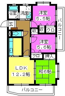 メゾンドール荒木 / 301号室間取り