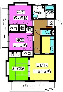 メゾンドール荒木 / 405号室間取り