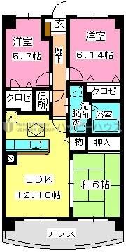 グランドゥール古祇園 / 101号室間取り