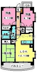 グランドゥール古祇園 / 305号室間取り