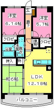 グランドゥール古祇園 / 402号室間取り