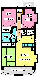 グランドゥール古祇園 / 505号室間取り