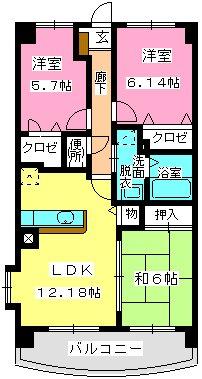 グランドゥール古祇園 / 601号室間取り