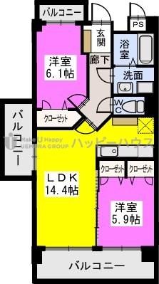 アルテールTOSU / 603号室間取り