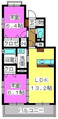 プラザ社田 / 103号室間取り