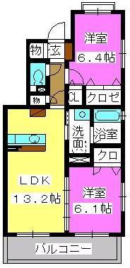 プラザ社田 / 301号室間取り