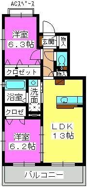 ステラ羽犬塚 / A102号室間取り