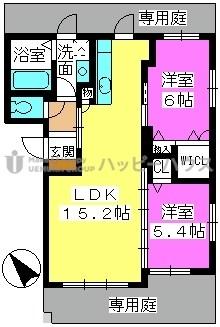 ラフィーネ / レ-101号室間取り