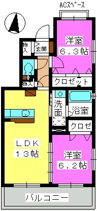 ラフィーネ / 301号室間取り