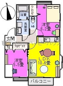 サンスクエア大崎 / 201号室間取り