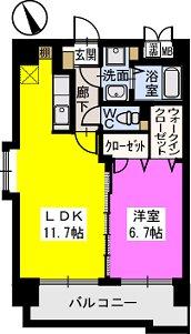 ベスタ櫛原 / 406号室間取り