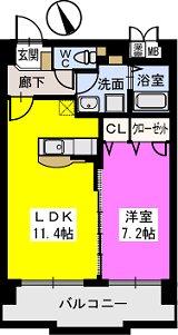 ベスタ櫛原 / 603号室間取り