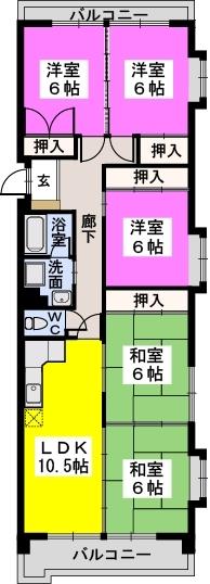 エサキ南ビル / 201号室間取り