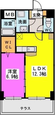 プレジデント正弥久留米駅前 / 103号室間取り