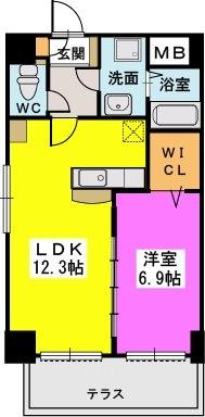 プレジデント正弥久留米駅前 / 105号室間取り