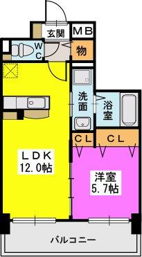 プレジデント正弥久留米駅前 / 302号室間取り