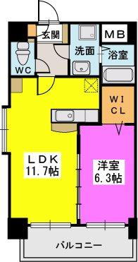 プレジデント正弥久留米駅前 / 305号室間取り