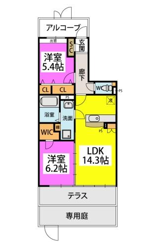 仮)プレアev江戸屋敷 / 102号室間取り